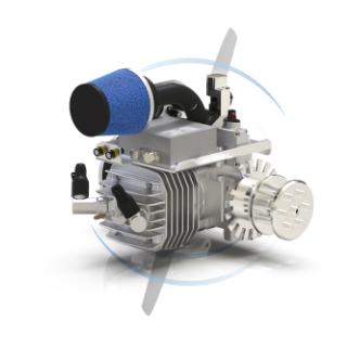 SP-55 EFI TS ROS 2 stroke gas engine, hf engine, CAN BUS