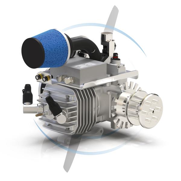1 cylinder gas engine Efi 55ccm twin spark