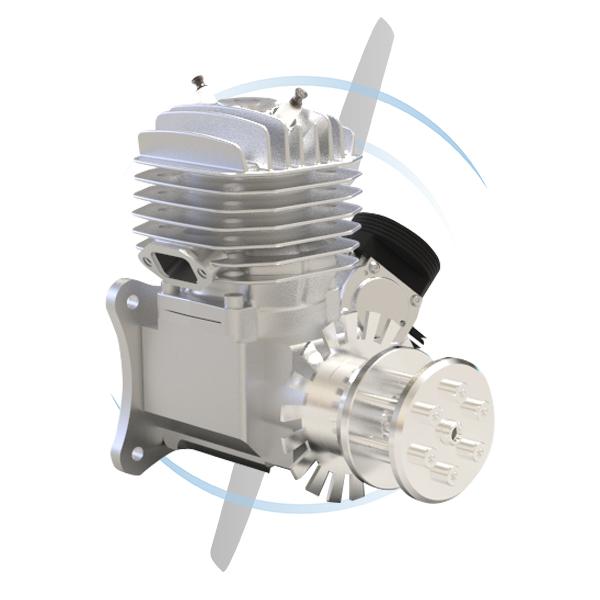 1 cylinder gas engine carburator 55ccm twin spark rear output shaft
